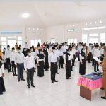 Asisten I Setda Kabupaten Natuna Hadiri Peresmian 45 Anggota BPD se-Kecamatan Pulau Tiga dan Pulau Tiga Barat