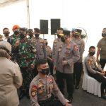 Panglima TNI dan Kapolri Tinjau Pelaksanaan Vaksinasi 1000 Prajurit TNI-Polri