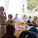 Bupati dan Wabup Asahan Menghadiri Syukuran Di Kelurahan Sidodadi Asahan