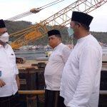 Gubernur Kepri Ansar  Ahmad dan Bupati Abdul Haris Tinjau Proyek Jalan Selayang Pandang II