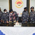Pangkoarmada I Hadiri Penandatanganan Prasasti Pembangunan Stasion Bantu Kapal Selam dan Sarpras Mess di Natuna