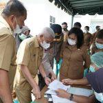 Bupati Surya dan Forkopimda Tinjau Pelaksanaan Vaksinasi