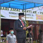 Bupati Zahir Pimpin Upacara Hari Amal Bakti ke-75
