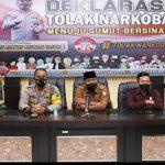 Kapolres Tanjung Balai Ikuti Meeting Polda Sumut 'Deklarasi Tolak Narkoba Menuju Sumut Bersinar'