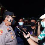 Kapolda Kepri Tinjau Lansung Pengamanan Malam Takbiran Kota Batam