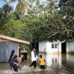 Dua Desa Terendam Banjir, Bupati H.Zukri Tinjau Langsung ke Titik Banjir