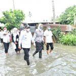Bupati Zahir Bersama Ketua BK3S Tinjau Banjir di Dua Kecamatan